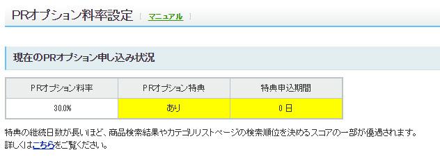 Yahoo!ショッピング_PRオプション特典継続利用による検索順優遇措置